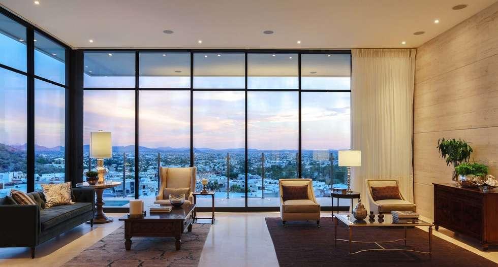 CASA MAR: Salas de estilo moderno por Imativa Arquitectos