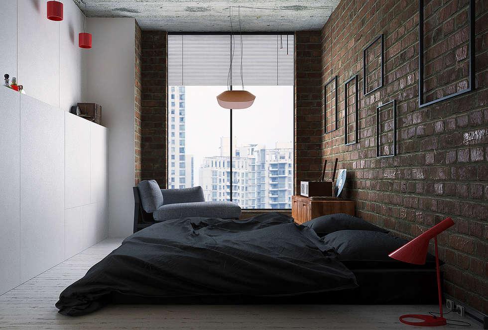industriële Slaapkamer door Lenz Architects