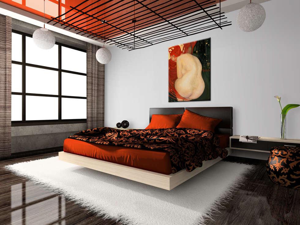 Pesci d\'oro (particolare) : camera da letto in stile in stile ...