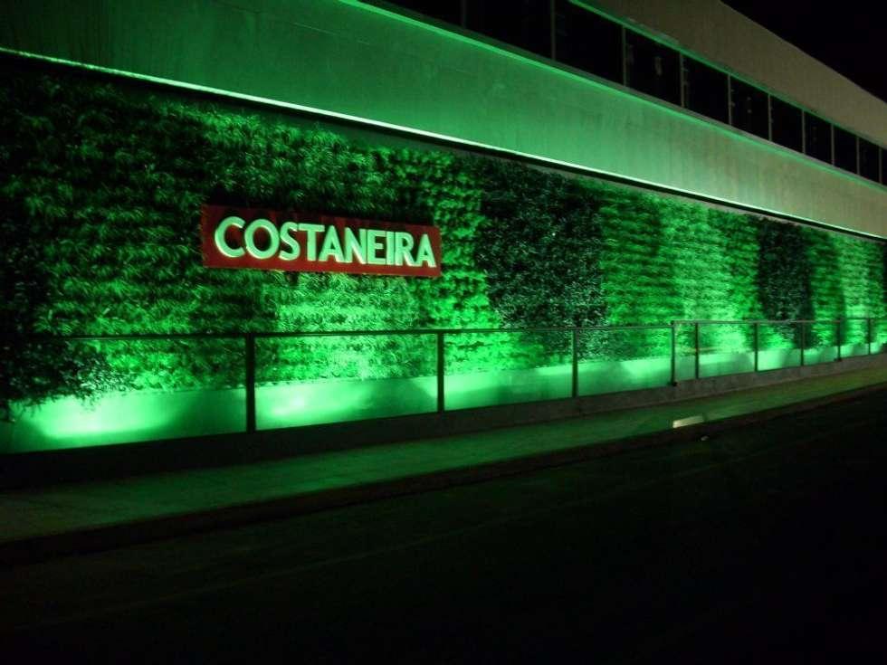 Jardim Vertical Costaneira: Edifícios comerciais  por Adines Ferreira Paisagismo