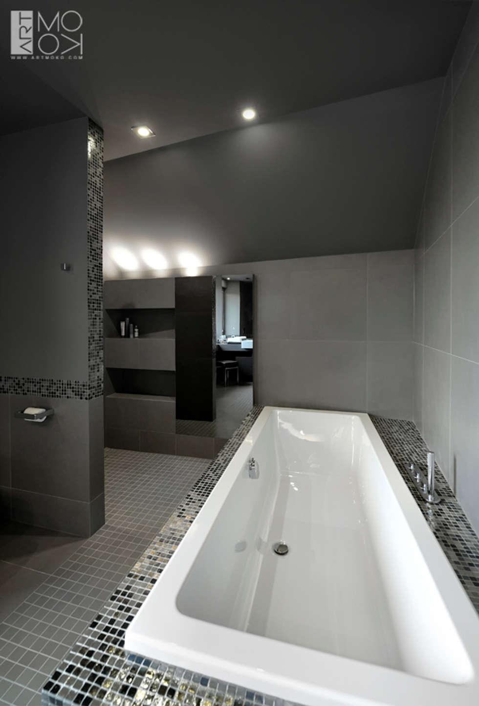 Komfortowa łazienka: styl , w kategorii Łazienka zaprojektowany przez Pracownia projektowa artMOKO
