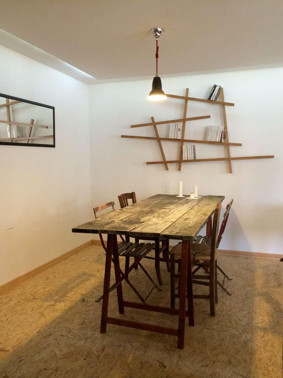 Salle à manger NIVEAU 0 (grange): Salle à manger de style de style Moderne par Atelier d'Ersu & Blanco