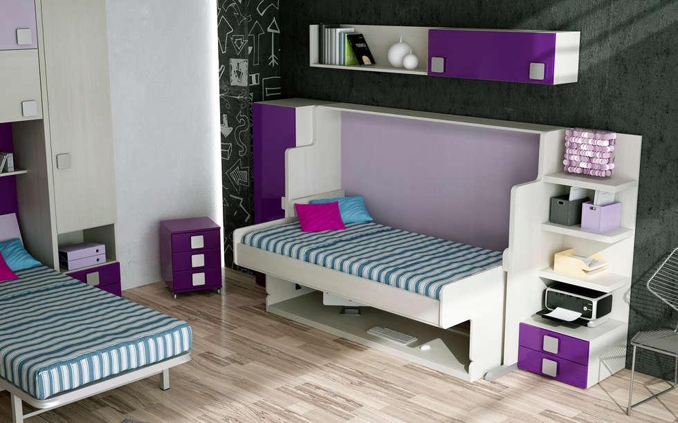MUEBLE CAMA MESA CON ESCRITORIO Dormitorios de estilo moderno de