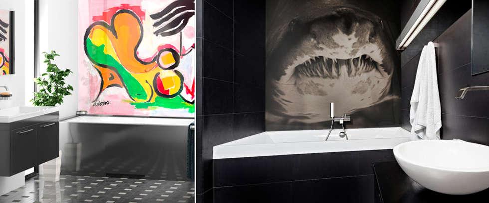 Artiste J. Colomina / O Ramonteu: Salle de bains de style  par AIC Design