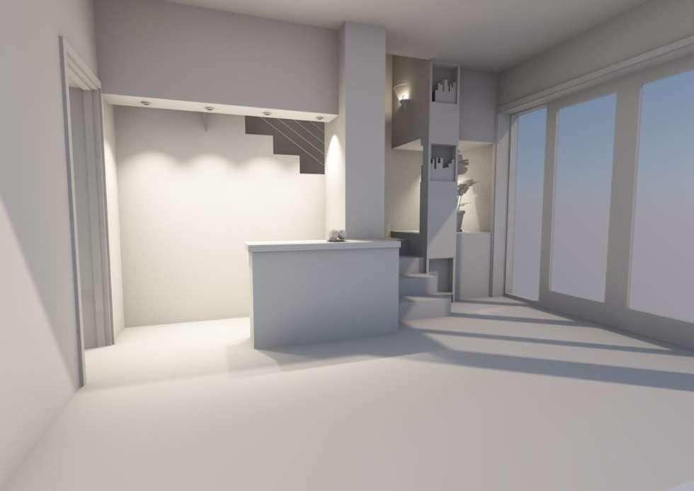 Les solutions petits espaces:: Salon de style de style Moderne par AeA - Architecture Eric Agro