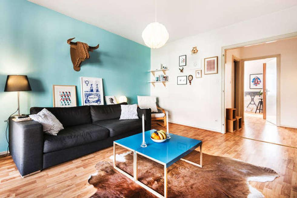 Décoration d'intérieur - Appartement de C & L: Salon de style de style Scandinave par Ektor studio