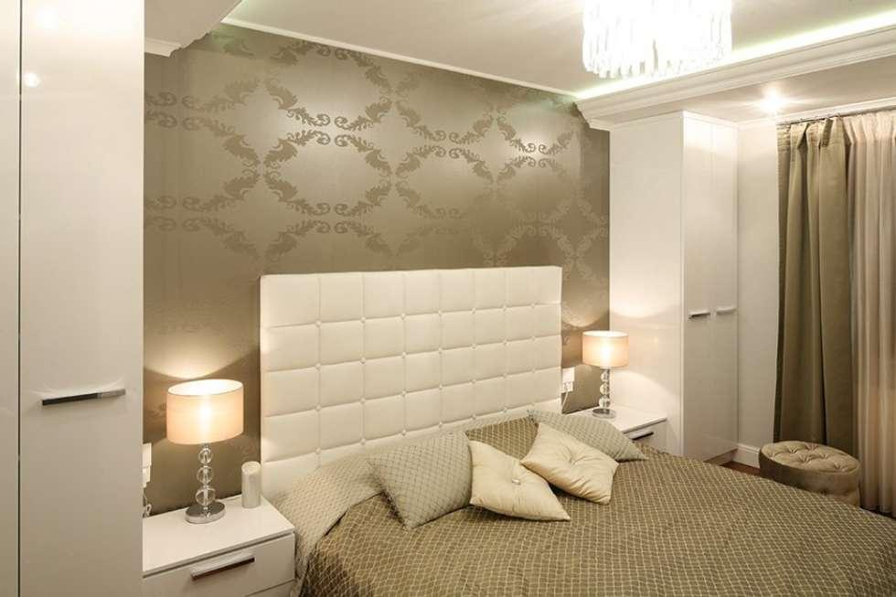 Apartament Glamour - Sypialnia.: styl , w kategorii Sypialnia zaprojektowany przez CAROLINE'S DESIGN