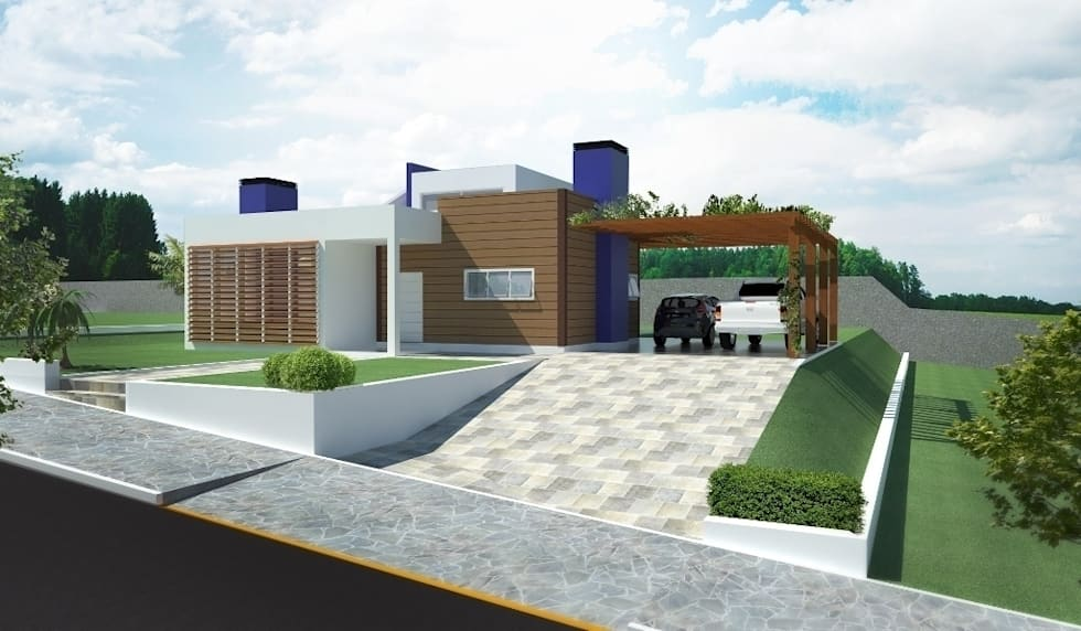 Fachada Principal: Casas modernas por Tuti Arquitetura