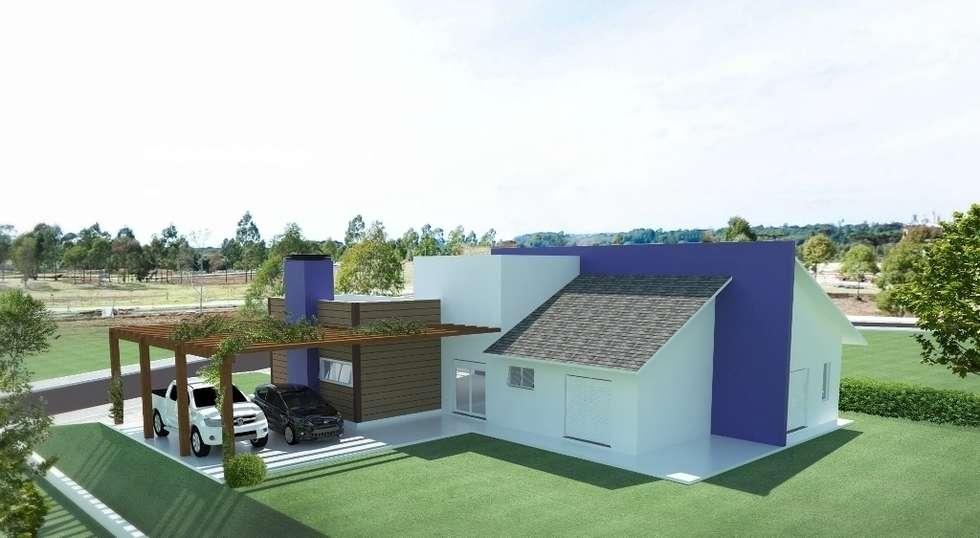 Vista dos Fundos : Casas modernas por Tuti Arquitetura