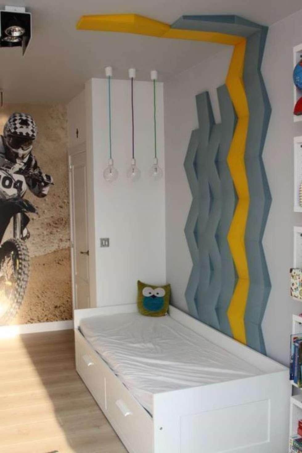 CHEVRON w prywatnej realizacji: styl , w kategorii Ściany zaprojektowany przez FLUFFO fabryka miękkich ścian