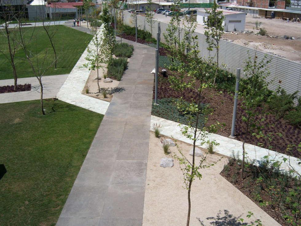 Circuitos peatonales: Jardines de estilo moderno por KVR Arquitectura de paisaje