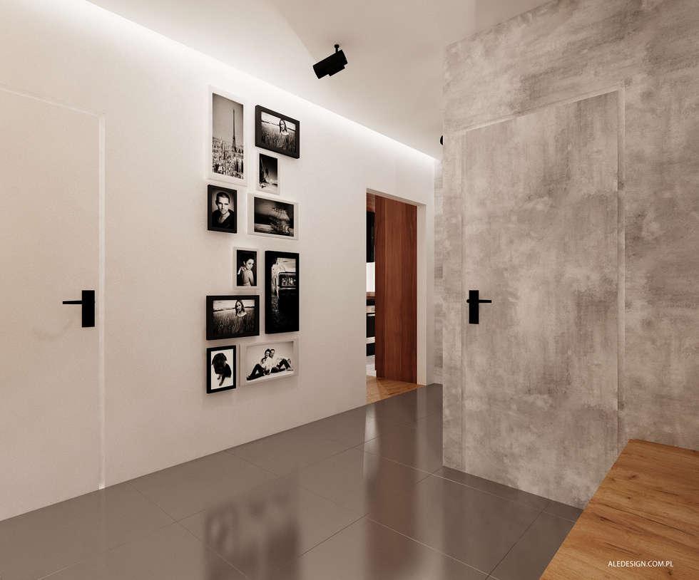 Przedpokój w szarości  www.aledesign.com.pl: styl , w kategorii Korytarz, przedpokój zaprojektowany przez Ale design Grzegorz Grzywacz