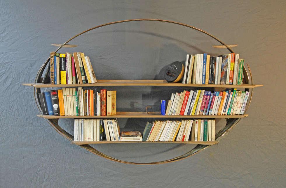 Bibli-ellipse N°7 - vue générale: Salon de style de style Industriel par Jean Zündel meubles rares