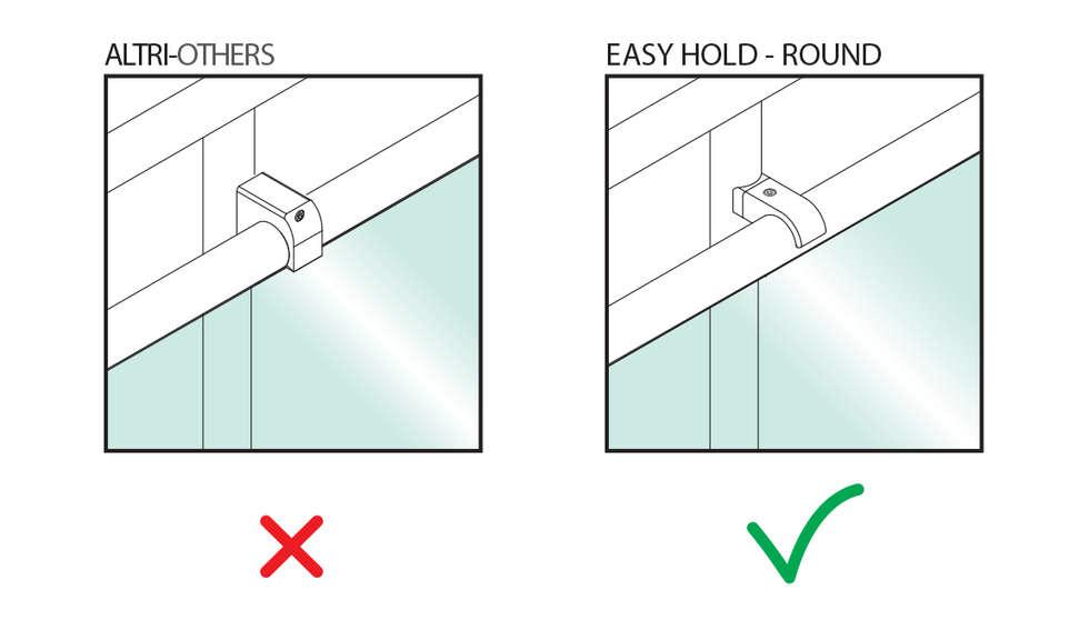 Easy Hold Round: Negozi & Locali commerciali in stile  di IAM Design