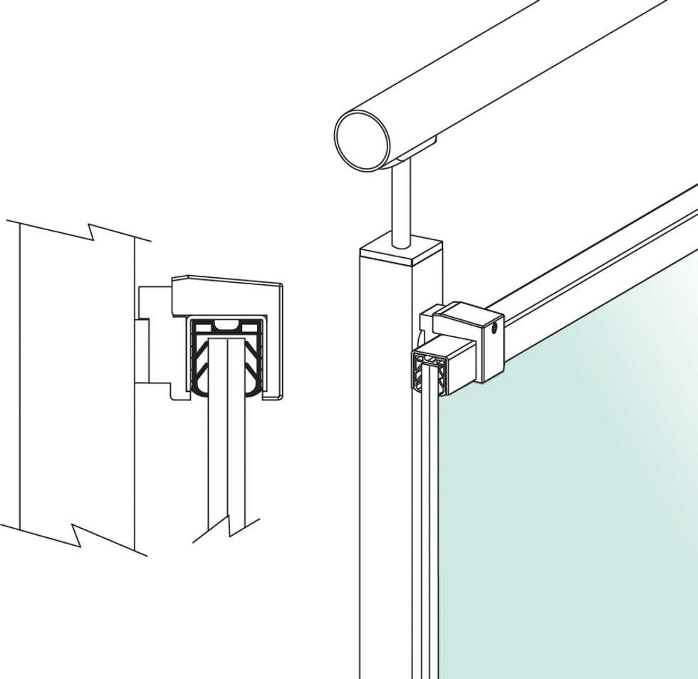 Easy Hold Square: Negozi & Locali commerciali in stile  di IAM Design