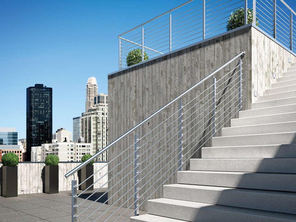 Bars Square: Case in stile in stile Minimalista di IAM Design