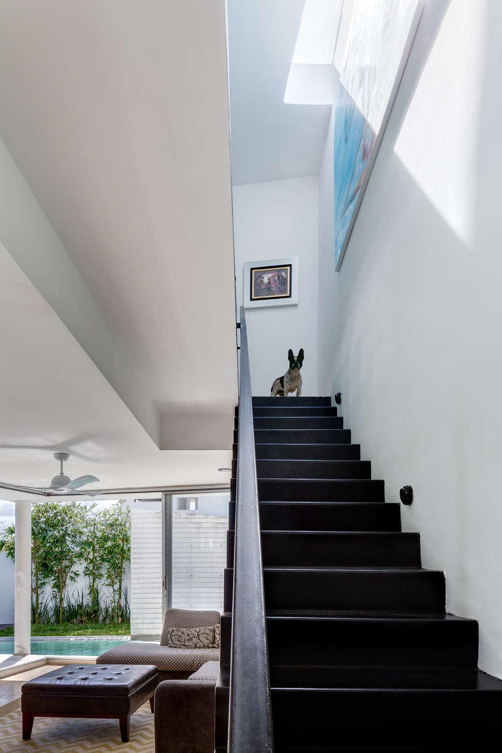 escaleras: Pasillos y recibidores de estilo  por Taller ADC Architecture Office