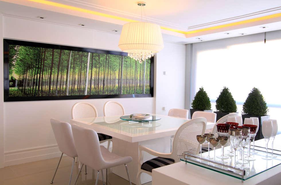 Apartamento Bela Vista 02: Salas de jantar modernas por Francisco Humberto Franck