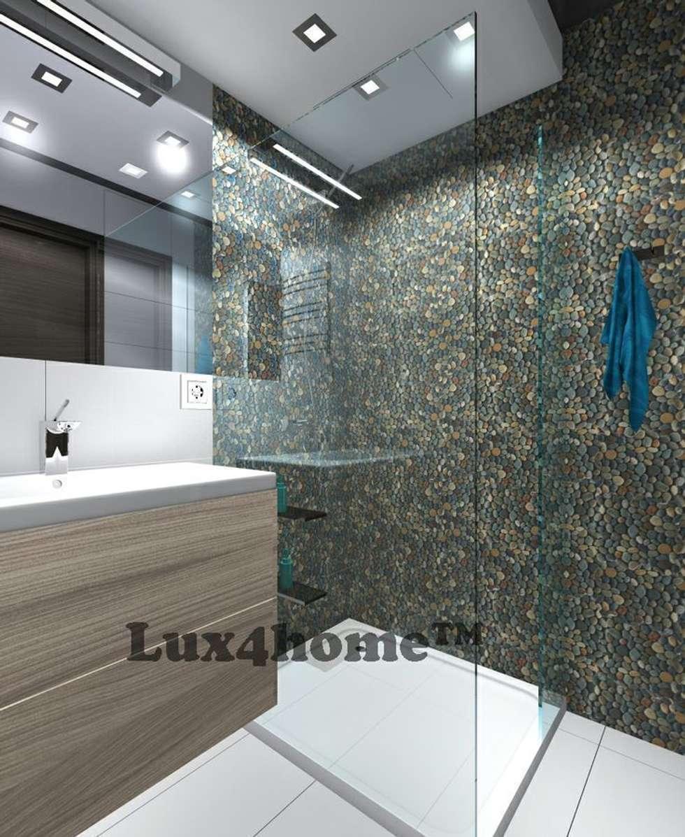 Prysznic z otoczaków od Lux4home. : styl , w kategorii Łazienka zaprojektowany przez Lux4home™