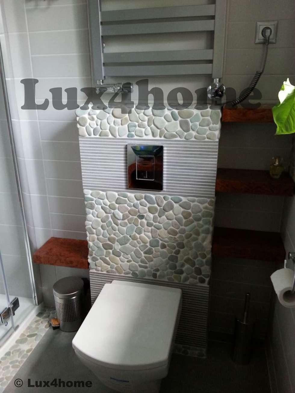 Zielone otoczaki - łazienka: styl , w kategorii Łazienka zaprojektowany przez Lux4home™