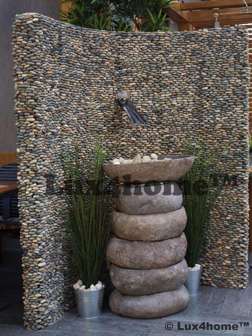 Otoczaki 3D na ścianie: styl , w kategorii Ściany zaprojektowany przez Lux4home™