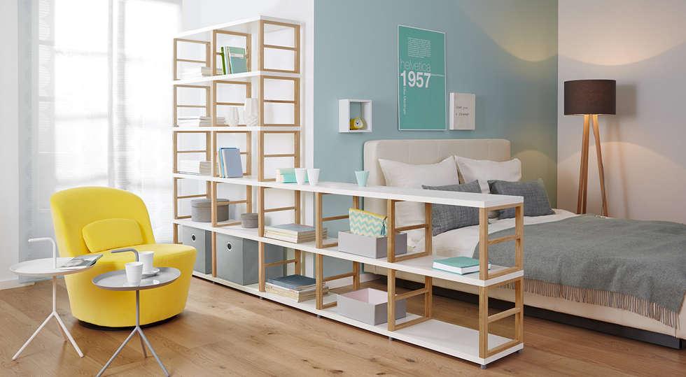 Raumteiler Regalsystem Maxx Skandinavische Schlafzimmer Von - Schlafzimmer regalsysteme