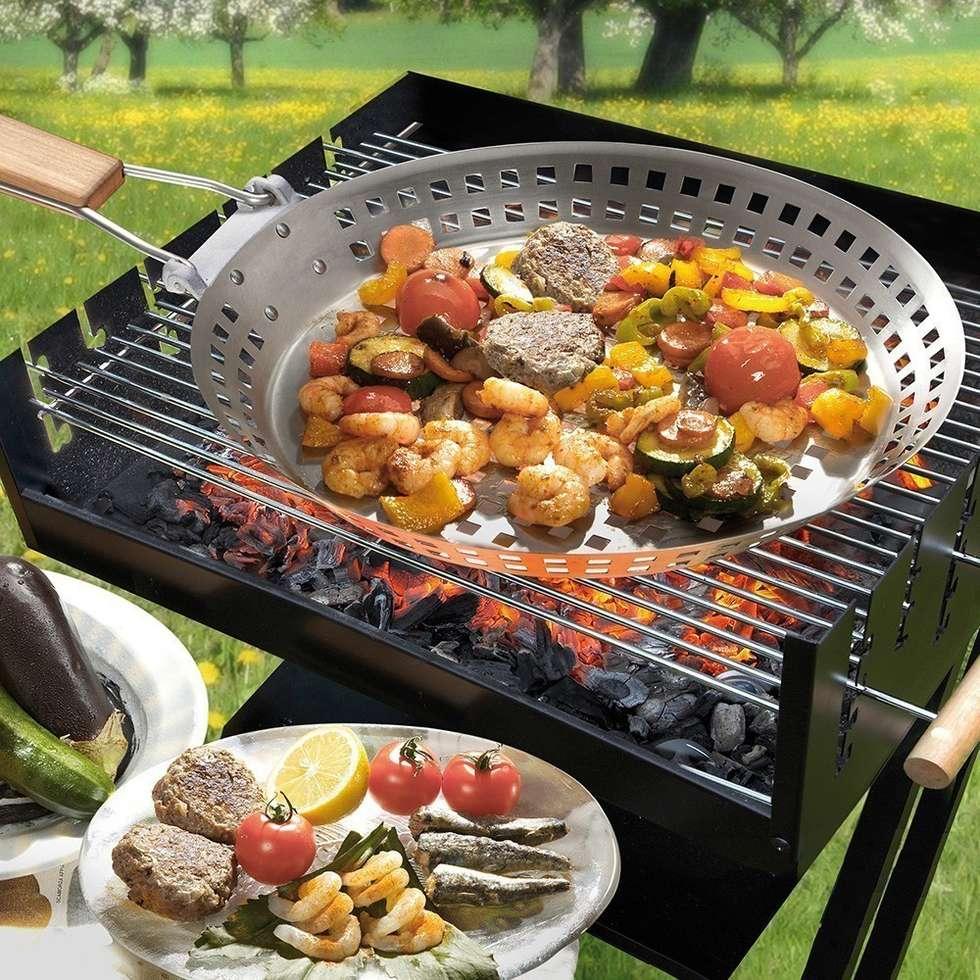 Poêle à griller inox pour barbecue: Cuisine de style de style eclectique par IdéeCadeau.fr