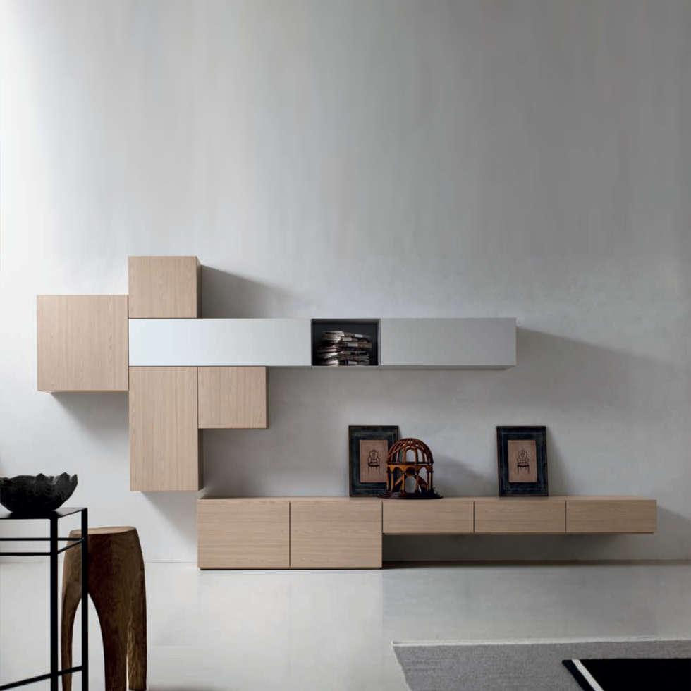 U0027Woodu0027 TV/media Unit By Santa Lucia: Modern Living Room By My. U0027