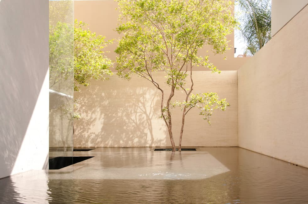 Jardins modernos por Gantous Arquitectos