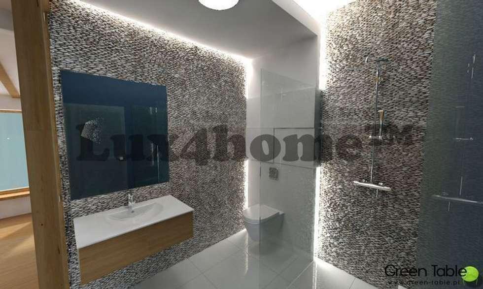 Ściany z otoczaków - mozaika kamienna otoczaki: styl , w kategorii Łazienka zaprojektowany przez Lux4home™