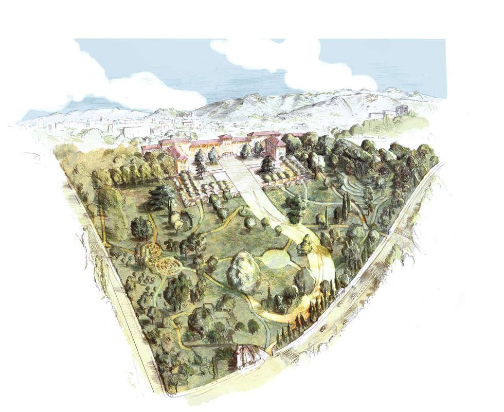 Vue du projet: Hôpitaux de style  par ESKIS Paysagistes