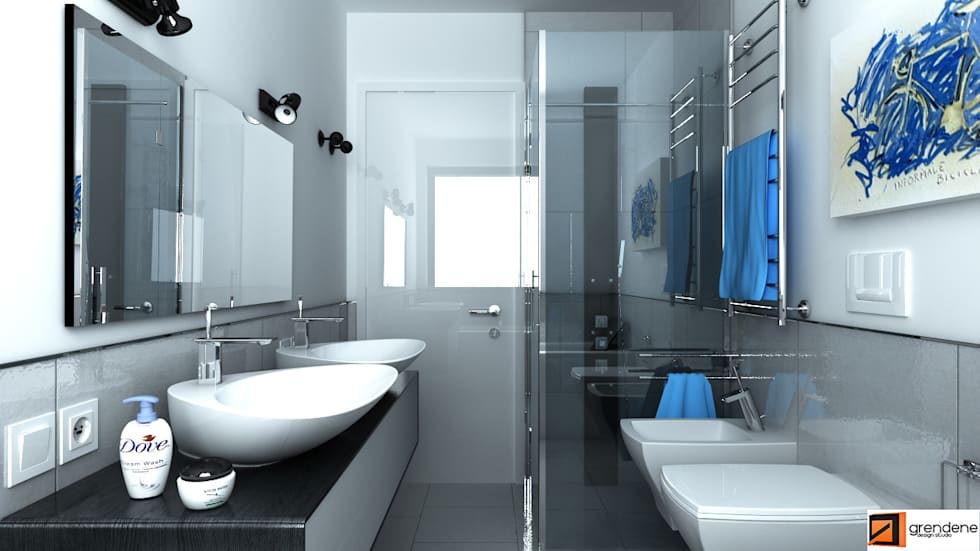 Vista bagno unità 2: Bagno in stile in stile Moderno di Grendene Design
