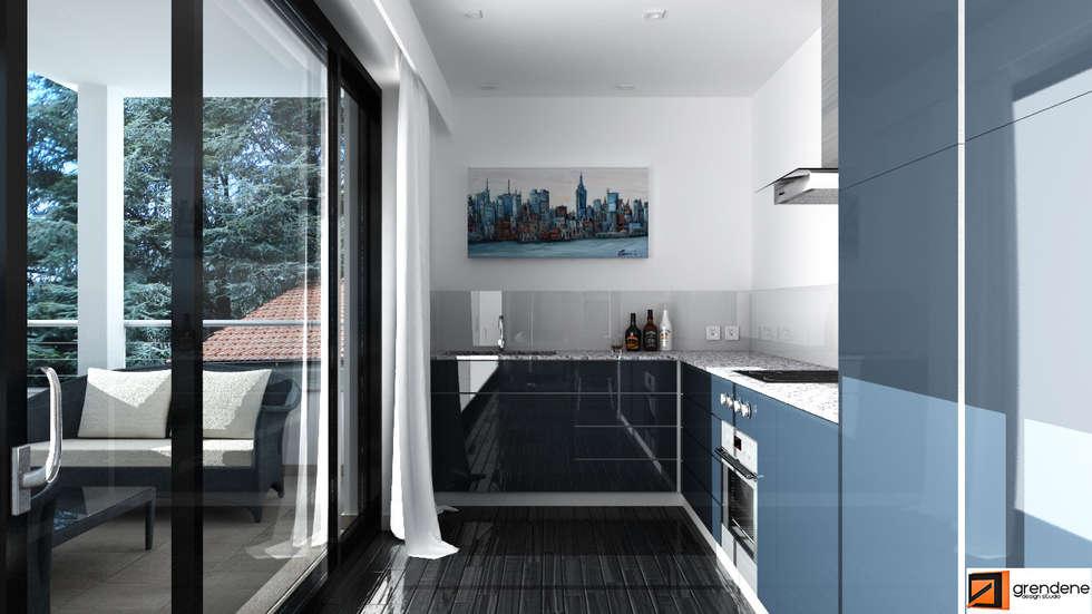 Vista cucina unità 1: Cucina in stile in stile Moderno di Grendene Design
