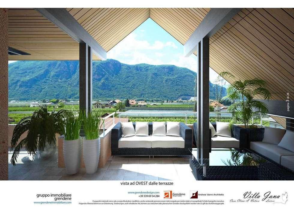 Vista terrazza: Terrazza in stile  di Grendene Design