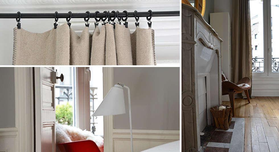 Chambre - Appartement Puteaux: Chambre de style de style Moderne par A comme Archi