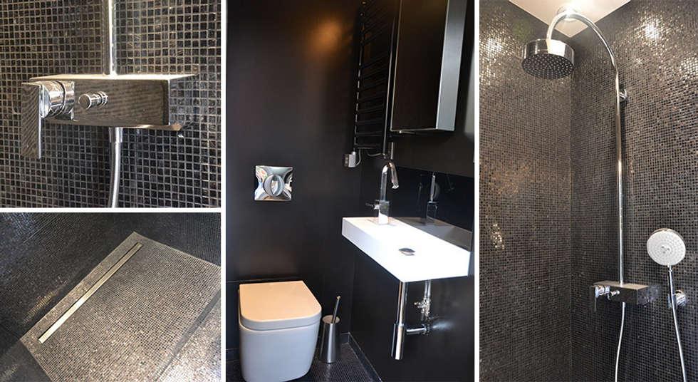 Salle de douche - Appartement Paris 15e: Salle de bains de style  par A comme Archi