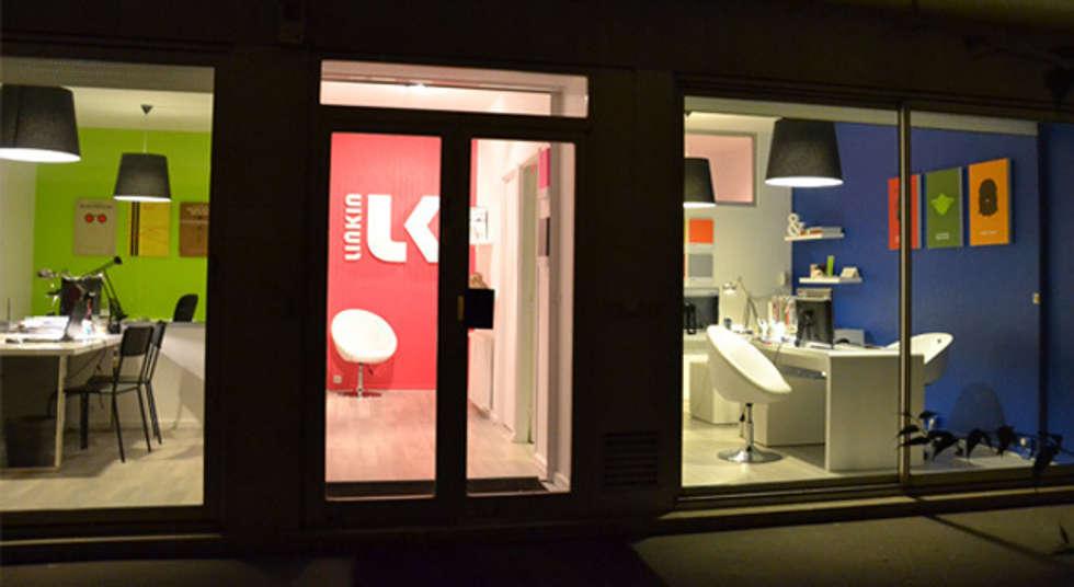 Façade - Bureaux Paris 15e: Bureaux de style  par A comme Archi