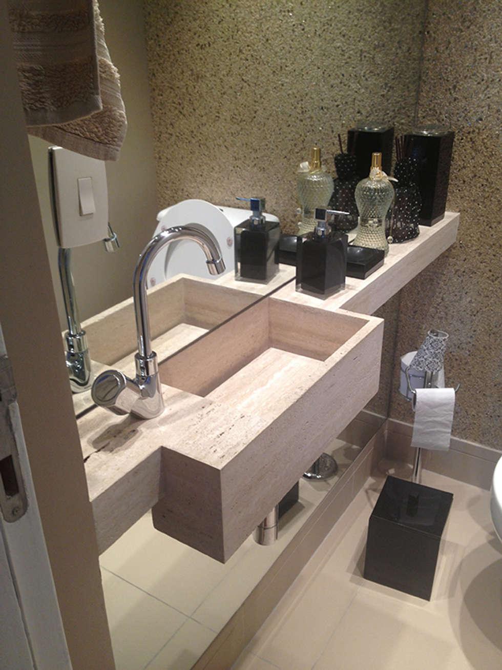 Lavabo: Banheiros modernos por AWDS Arquitetura e Design de Interiores