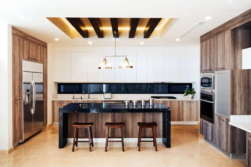 Residencia R53: Cocinas de estilo moderno por Imativa Arquitectos