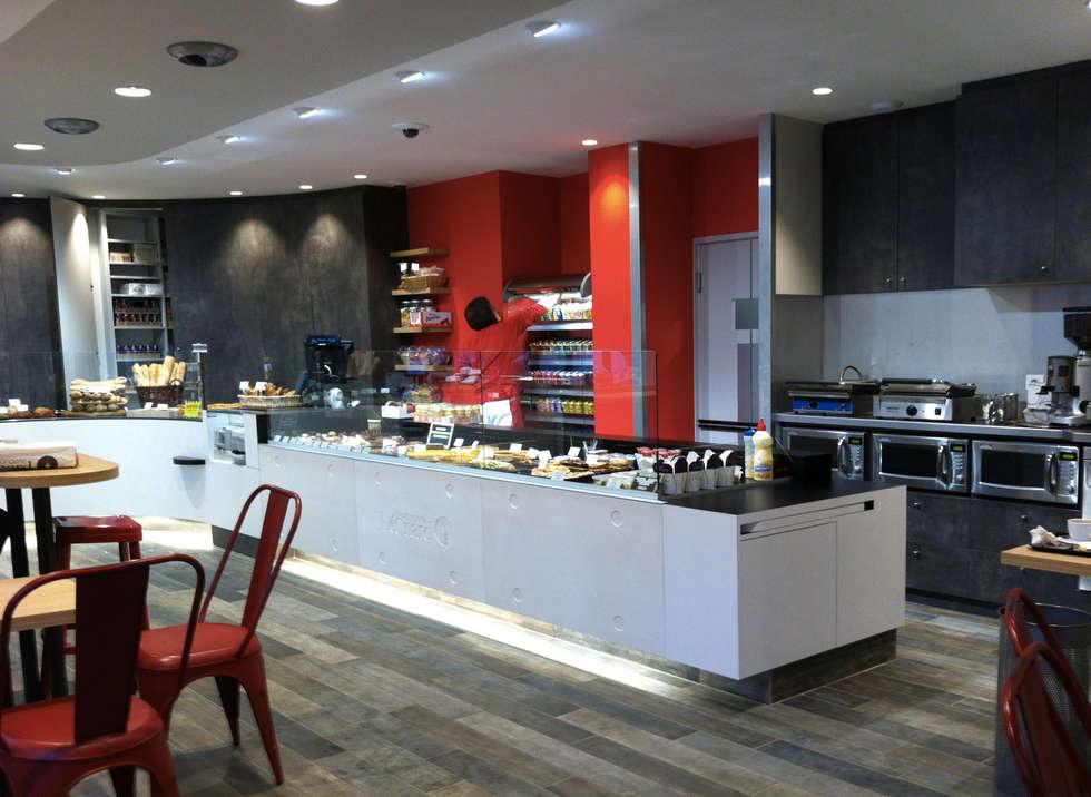 Boulangerie Léonard: Cuisine de style de style Moderne par Concrete LCDA