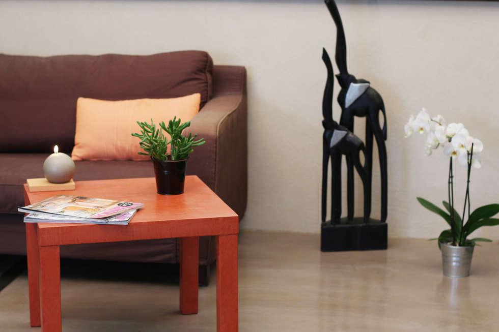 Sol en béton ciré décoratif salon: Salon de style de style Tropical par Les Bétons de Clara