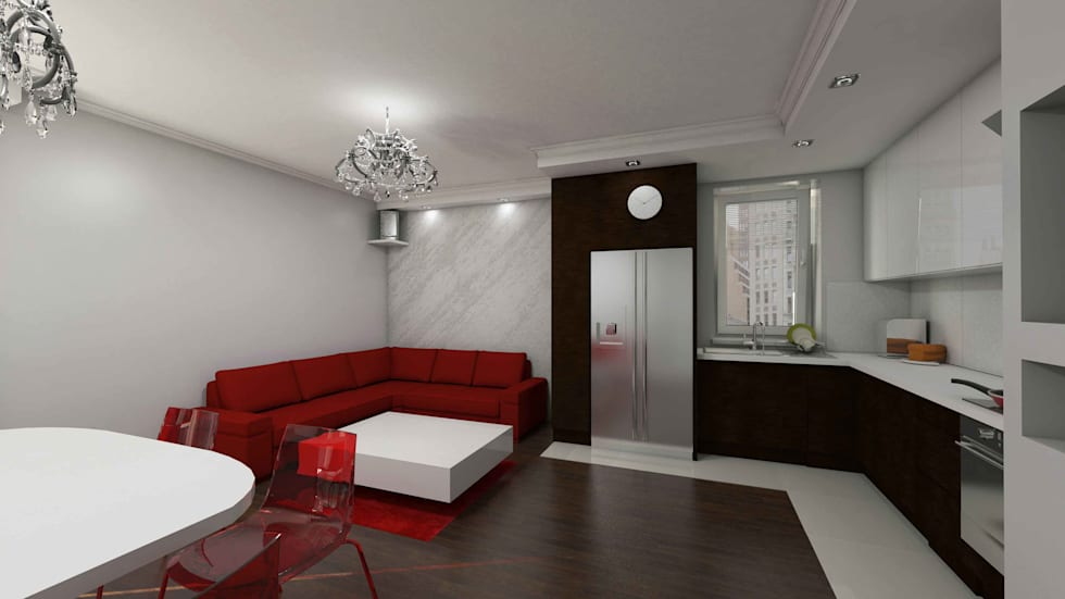 Salon glamour: styl , w kategorii Salon zaprojektowany przez Katarzyna Wnęk