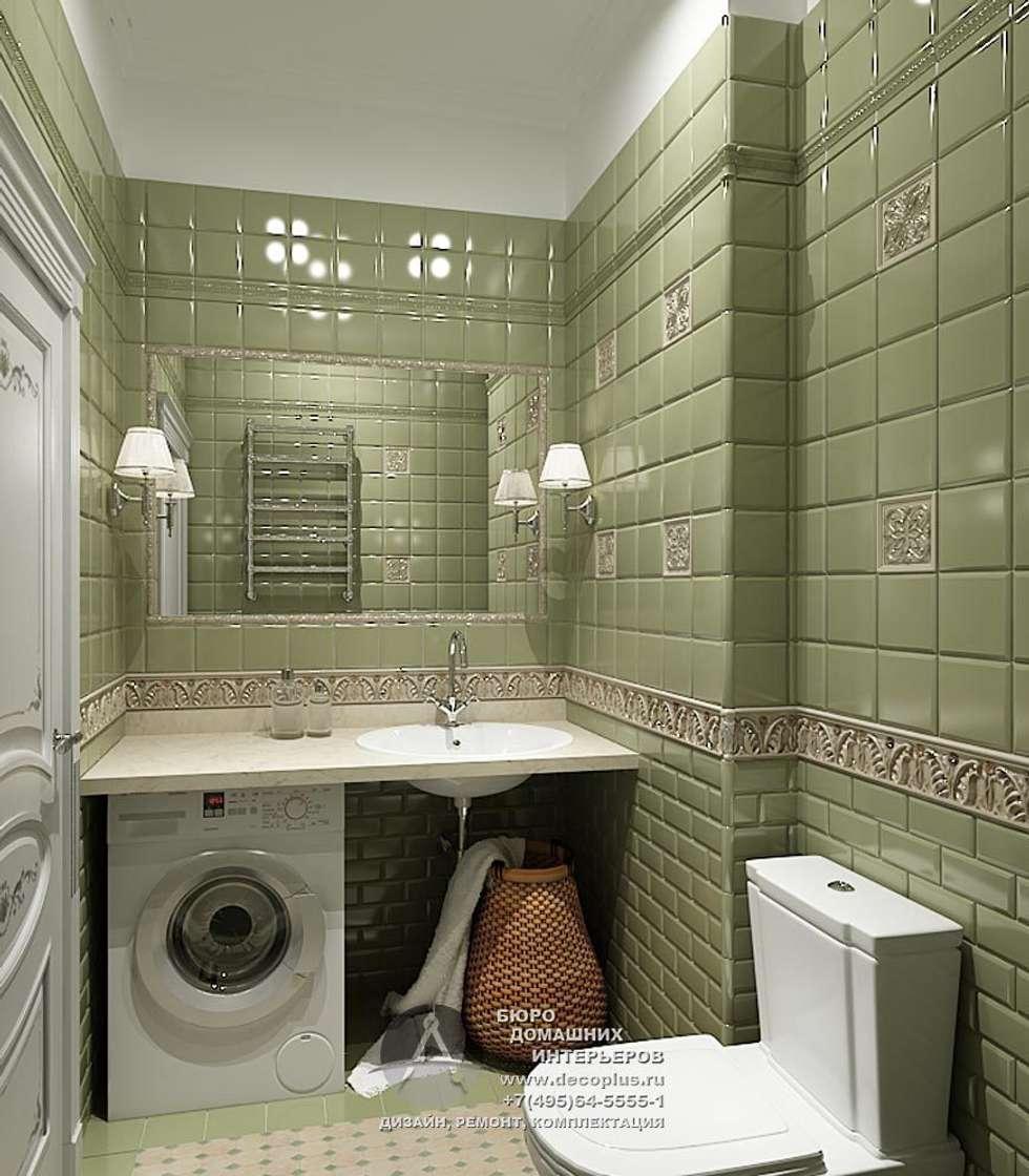 Дизайн санузла с элементами арт-деко: Ванные комнаты в . Автор – Бюро домашних интерьеров