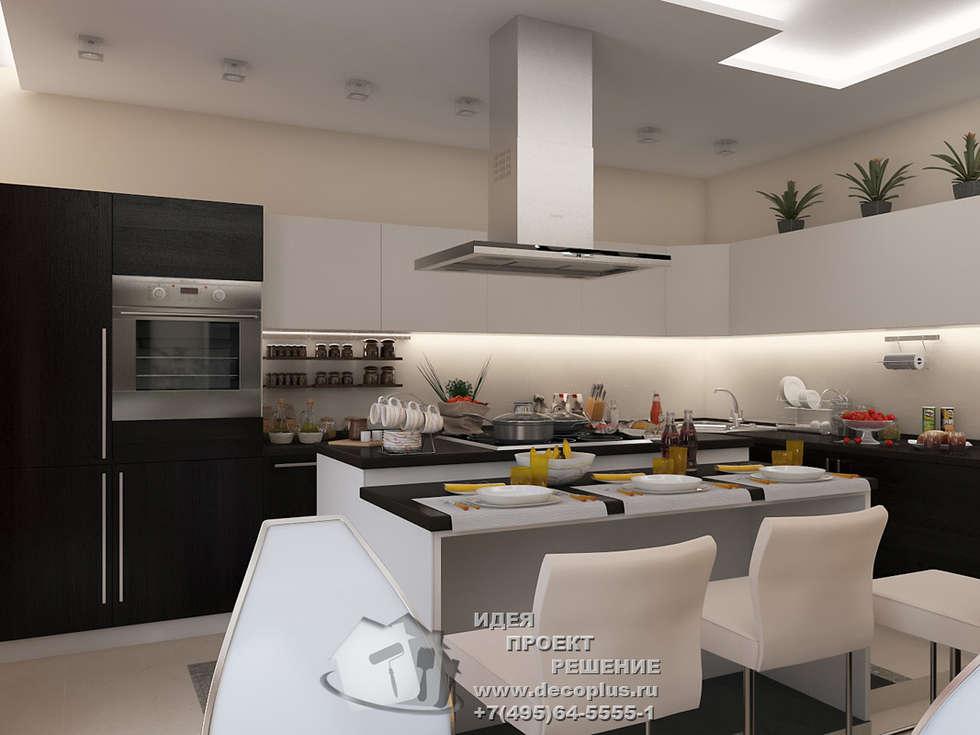 Дизайн кухни-столовой в стиле минимализм: Кухни в . Автор – Бюро домашних интерьеров
