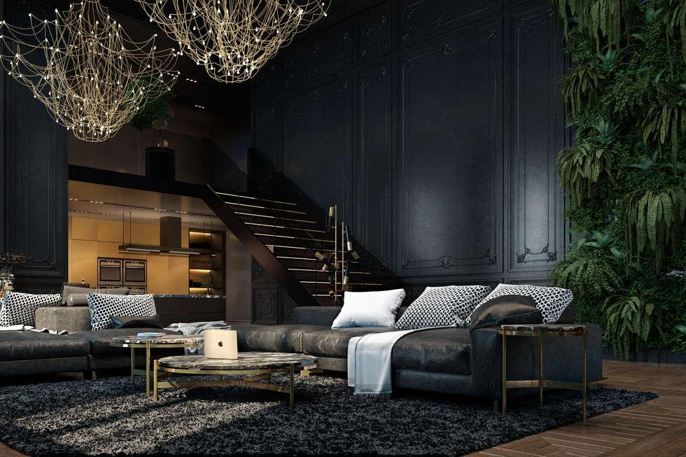 ausgefallene wohnzimmer bilder von diff.studio | homify, Hause deko