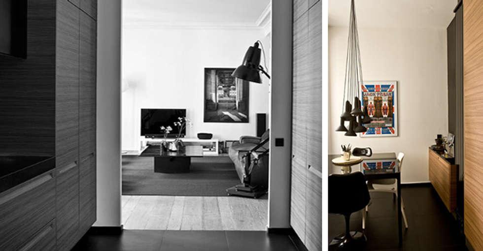 PARIS  GEORGES MANDEL     Crédit photo: Gilles Trillard pour Maison Française (sept. 2014): Salon de style de style Moderne par KTL Interiors  by Kareen Trager-Lewis