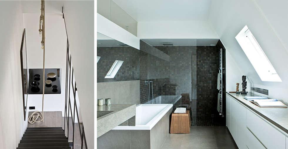 PARIS  GEORGES MANDEL     Crédit photo: Gilles Trillard pour Maison Française (sept. 2014): Salle de bains de style  par KTL Interiors  by Kareen Trager-Lewis