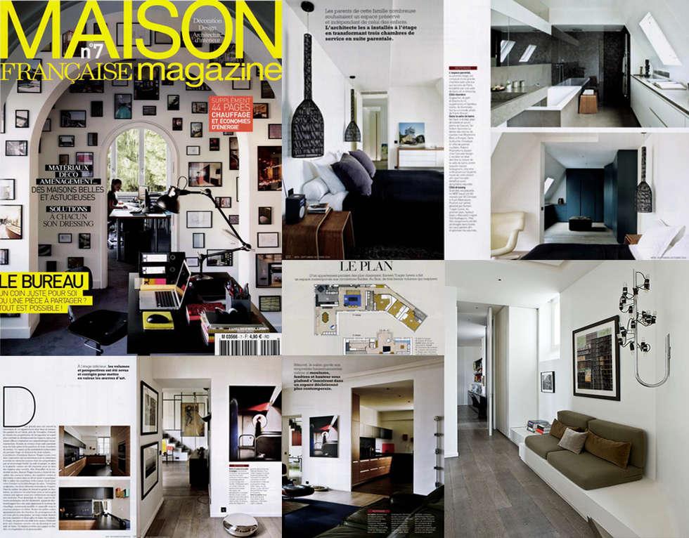 """Parution """"MAISON FRANCAISE MAGAZINE""""  Septembre 2014: Couloir et hall d'entrée de style  par KTL Interiors  by Kareen Trager-Lewis"""