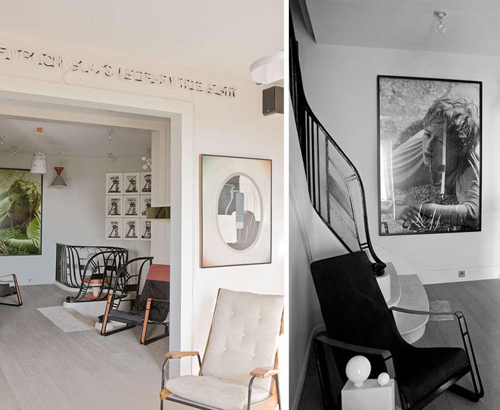 PARIS TROCADERO     Crédit photo:  Gilles Trillard pour ELLE DECO: Couloir et hall d'entrée de style  par KTL Interiors  by Kareen Trager-Lewis