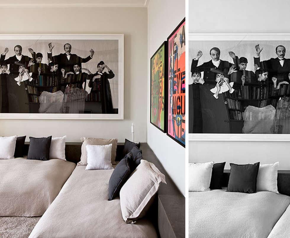 PARIS TROCADERO     Crédit photo:  Gilles Trillard pour ELLE DECO: Chambre de style de style Moderne par KTL Interiors  by Kareen Trager-Lewis